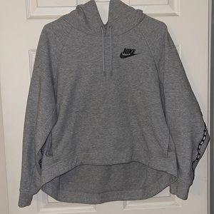 Nike Gray Crop front Hoodie
